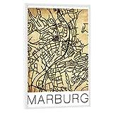 artboxONE Poster mit weißem Rahmen 30x20 cm Städte Retro