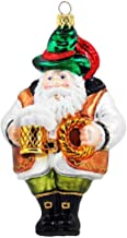 Pinnacle Peak Trading Company German Bavarian Santa Holding Beer Polish Glass Christmas Ornament Travel
