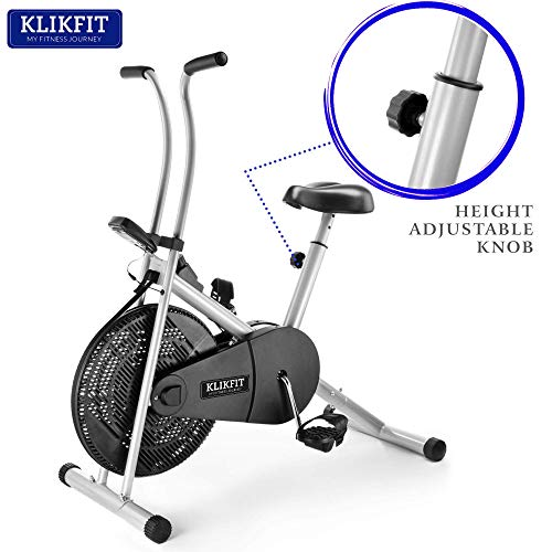 Klikfit KF01F Indoor Stationary Air Bike Exercise Cycle for Home Gym Cardio Full Body Weight Loss Workout - Free Installation Support