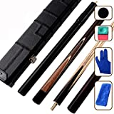 Snooker Club Small Head Black 8 Cue 16 color Billiard Cue Set (145cm/57.1in Packing of 1)