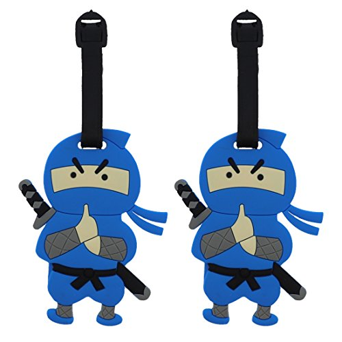 Ninja Boy Tags Cute Suitcase Labels (Set of 2)