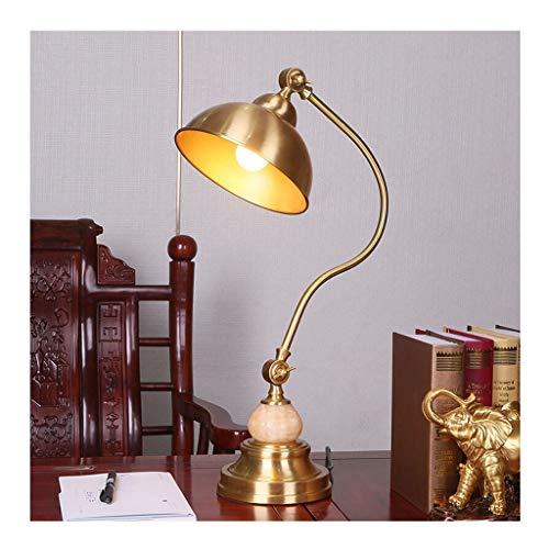 Lampe de bureau Office Eye Caring LED Étude Lampes de lecture Adultes Lampe de travail Chambre Américaine Style Métal Laiton