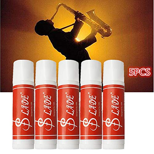 Alician 5 Pcs Premium Cork Grease Delicate Smooth Waterproof for Clarinet Saxophone Oboe Flute Wind Instruments Parts & Accessory