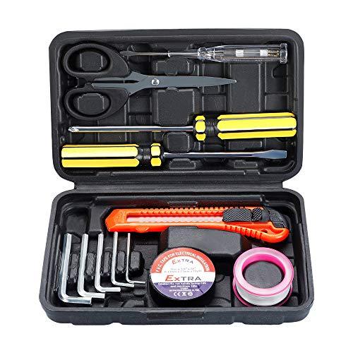 AIRAJ小さい工具セット 道具セット8点組 ポータブルツールセット 家庭用DIY修理作業 工具