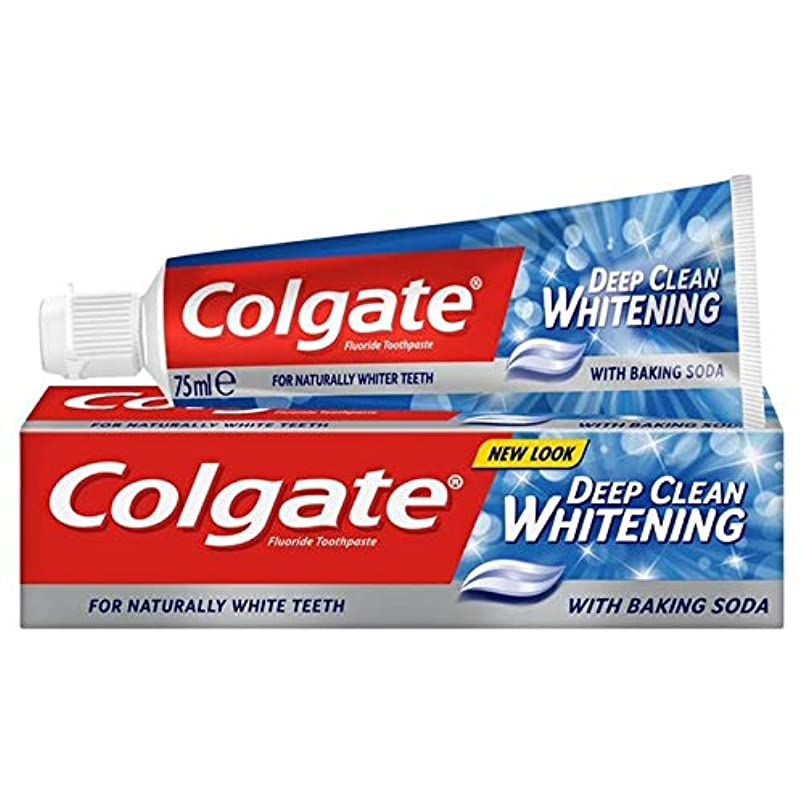 内部壁紙切手[Colgate ] コルゲート深いクリーンホワイトニング歯磨き粉75ミリリットル - Colgate Deep Clean Whitening Toothpaste 75ml [並行輸入品]