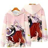 2021 New Anime Hoodie Pullover -Majo No Tabitabi Print Pullover Jujutsu Kaisen 3D Imprimir Sweater 2021 Año Nuevo Especial Unisex (Color : 8o, Size : S)
