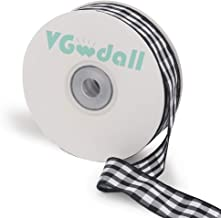 Buffalo Ribbon Decoration-25 Yards and 1 Inch White and Black Gingham Ribbon, Decorate Your House,Staircase and DIY Any Ki...