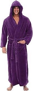 Men's Hooded Bathrobe Plush Soft Warm Long Bathrobe Bathrobe Shawl Bathrobe Pajamas