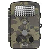 Trail Game Camera , Blusmart Wildlife Camera 12MP 1080P HD With Time Lapse 65ft 120° Sensor 50 Degree Animal camera Infrared Night Vision 42pcs IR LEDs 2.4' LCD Screen Scouting Camera