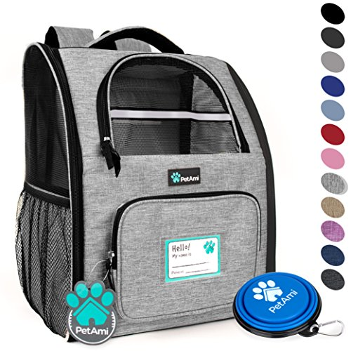 PetAmi Deluxe Pet Carrier Backpack for Small Cats and Dogs, Puppies | Ventilated Design, Two-Sided...