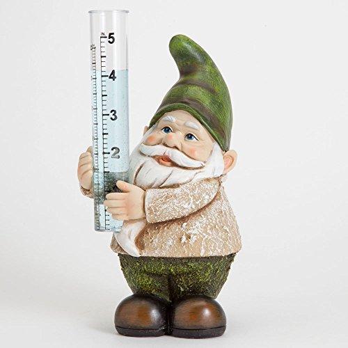 Bits and Pieces - Statua decorativa da giardino, a forma di gnomo, dipinta a mano, per giardino, prato o patio, in poliresina, resistente, resistente alle intemperie