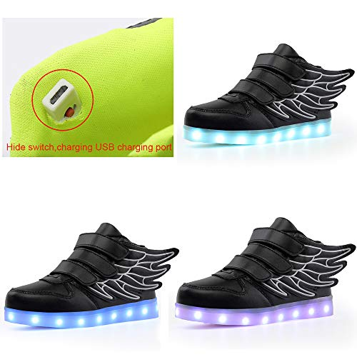 KARKEIN LED Light Up Shoes for Kids Boys Girls Flashing Sneakers Wing Shoes