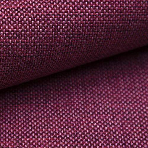 NOVELY® MUDAU   Polsterstoff   Meterware   Möbelstoff   Webstoff   Struktur-Stoff   Mélange   Grober Handwebcharakter   26 Farben (15 Beere Pink)