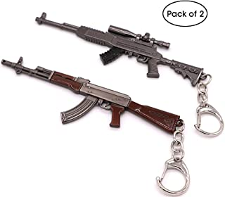 Gun Keychain Sniper and Rifle Shooting Gun Key Chain Bag Charm Pendant for Men Metal Weapon Gun Shaped Keychain Keyring for Men and Boys
