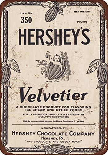 SIGNCHAT 1928 Hershey velvetier del Jarabe de chocolade Metalen tin teken 8X12 inch