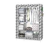 TINE HOME Moderno Simple de Bricolaje Armario Tejido para el hogar Tejido Plegable Ward Almacenamiento Combinación Simple guardarropa, 001, 170cm*105cm*45cm