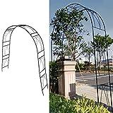 Cikonielf Pérgola de Enrejado de Arco de Rosas, Arco de jardín de Metal de Hierro, Plantas trepadoras