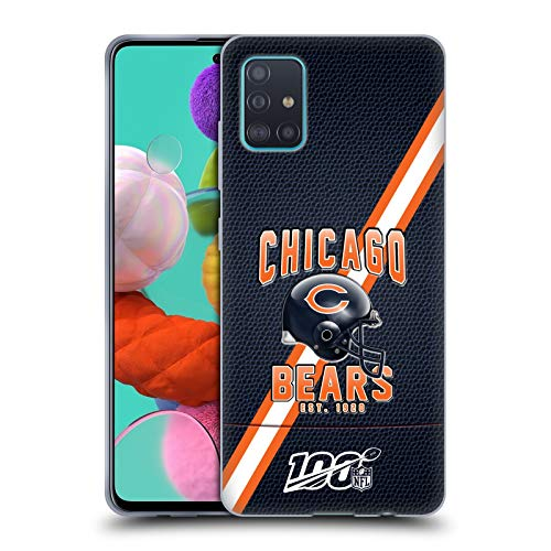 Head Case Designs Officially Licensed NFL Football Stripes 100th 2019/20 Chicago Bears Soft Gel Case Compatible with Samsung Galaxy A51 (2019)