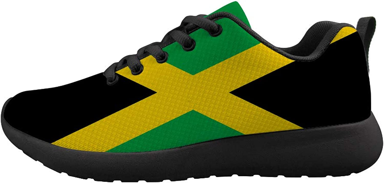 Owaheson Cushioning Sneaker Trail Running shoes Mens Womens Jamaica Flag
