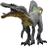 Jurassic Dinosaur Toys for 3 4 5 6 7 Year Old Boys,Rainbow Spinosaurus with Movable Jaw Dino Action Figure Cool Birthday Cake Topper, Party Gift, Home Decoration for Kids