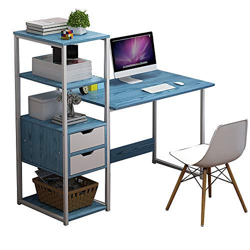 QINJIE Escritorio Simple para computadora de Escritorio, Escritorio para el hogar, Escritorio, Mesa de Esquina Moderna combinada,Azul,41.3 * 15.7 * 43.3 Inches