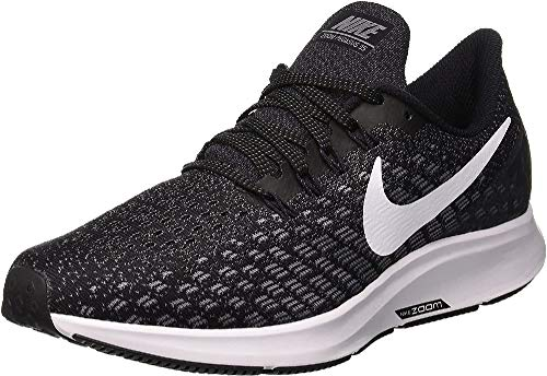 NIKE Wmns Air Zoom Pegasus 35 Zapatillas de Running, Unisex Adulto, Negro Black White Gunsmoke Oil Grey 001, 44 EU