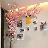 WLHER Árbol Artificial de la Flor de Cerezo, Seda Flor de Cerezo Flor de Vid Falsa, Plantas Artificiales, plástico, Adecuado para Bodas/jardín/Oficina/Hotel/Tienda