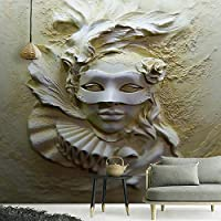 XIAOHUKK 3D写真壁紙ステレオレリーフビューティー抽象芸術PVC粘着壁紙装飾壁画ビニール壁紙家の装飾