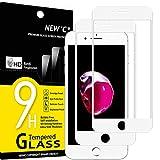 NEW'C Protector de Pantalla de Cristal blindado, Compatible con iPhone 7 y iPhone 8 y iPhone SE 2020 (4.7'), 3D, dureza 9H, 0,33 mm, Ultra Transparente, Protector de Pantalla HD