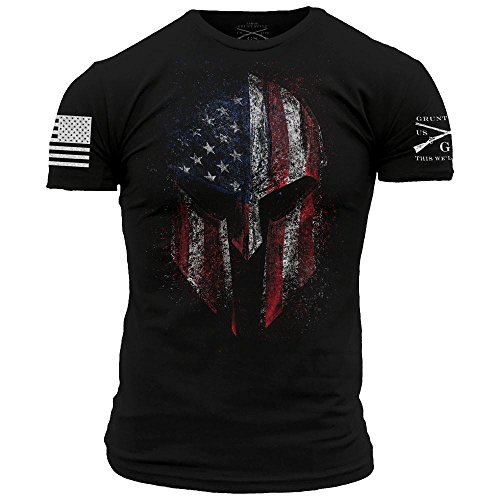 Grunt Style American Spartan 2.0 Men's T-Shirt, Color Black, Size Large
