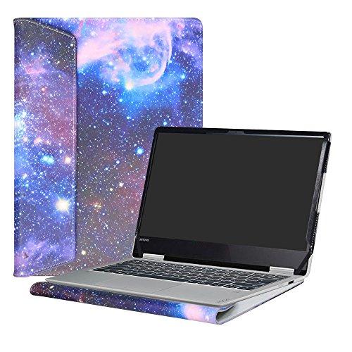 Alapmk Diseñado Especialmente La Funda Protectora de Cuero de PU Para 13.3' Lenovo Yoga 720 13 720-13IKB Ordenador portátil,Galaxy