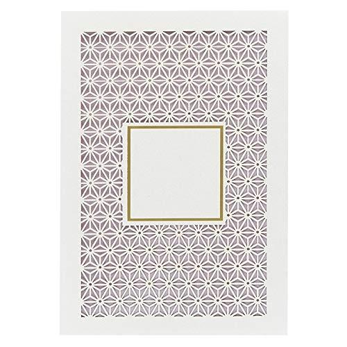 Ideen mit Herz Deluxe-Laser-Grußkarten aus Perlmuttkarton | mit Prägung | 5 Stück | Din B6 | Premium-Grußkarten inkl. Einleger und Umschlag | ideale Blanko-Karte für Hochzeit & Geburtstag (Design 4)