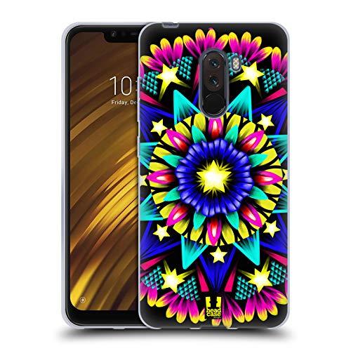Head Case Designs Sterne Laternen Mandala Soft Gel Huelle kompatibel mit Xiaomi Pocophone F1 / Poco F1