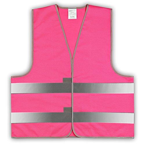 1 Stück easyMesh Signalweste Warnweste Pink/Magenta (Unisize) XL/XXL ohne Druck