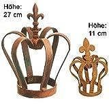 Novaliv Sparset 2X Dekokrone rost I 9x11 + 21x27 I Krone Deko Metallkrone Gartenkrone Dekokrone Gartenstecker