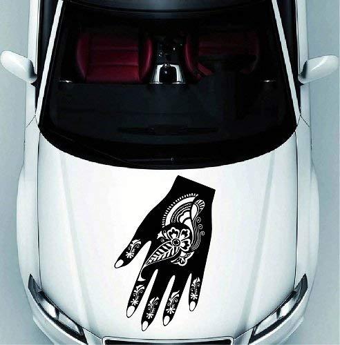 Lplpol Auto Auto Decor Vinyl Decal Art Sticker Henna Hand Indiaas Patroon Verwijderbaar Stijlvol Ontwerp 1231