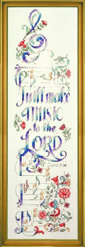 """Design Works Crafts Tobin 83010 Make Music Counted Cross Stitch Kit-5""""X20"""" 14 Count"""