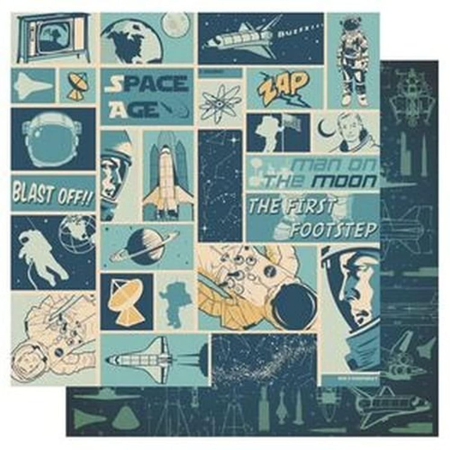Best Creations 12 x 12-inch Blast Off Glitter Paper, Pack of 25