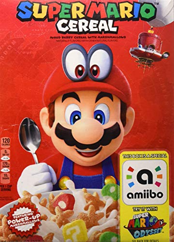 (Discontinued Version) Kelloggs Super Mario Breakfast Cereal, Mixed Berry with Marshmallows, 8.4 oz