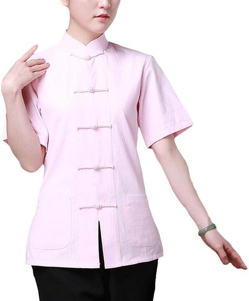 Women Tai  Top Chinese Tang Suit Coat  Martial Arts Kung Fu Uniform Vintage
