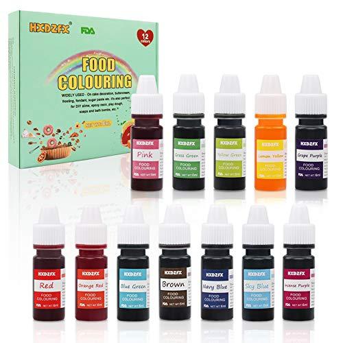 Colorante alimentario 12*6ml, Colorante Alimentario Alta Concentración Liquid Set para Colorear los...