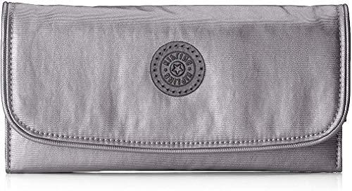 Kipling Money Land, Wallets Donna, Grigio, 3x18.5x10 cm