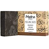 Meina Naturkosmetik - Bio Peeling Seife mit Kaffee, Naturseife ohne Palmöl, Vegan, Handgemacht (1 x...