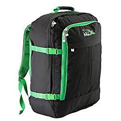 green and black Cabin Max backpack best cabin baggage