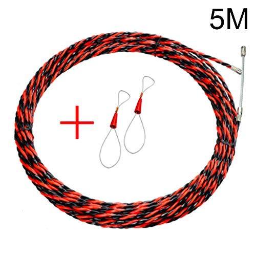 ieenay Equipo de encuadernación del Dispositivo de enroscado de Cables para Electricista Guía de Cable Herramienta de Ayuda para la instalación,5M
