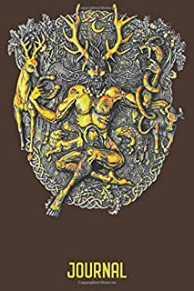 """Cernunnos Journal: 120 Page 6"""" x 9"""" Blank Lined Journal, Dairy, or Notebook"""
