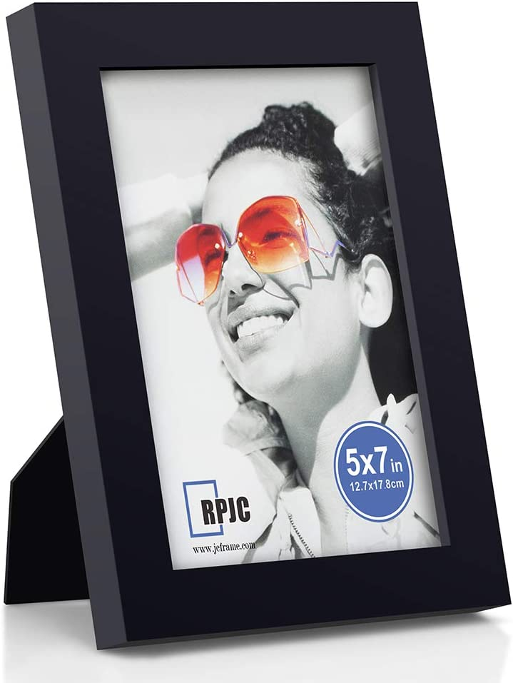 RPJC 5x7 Picture Frames Made of Solid Wood High Definition Glass