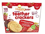 Happy Baby, Teether Cracker Strawberry Pomegranate Beet, 12 Count