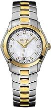 EbelクラシックスポーツLady 2トーンダイヤモンドHour 27mm Watch–母のパールダイヤル2トーンブレスレット1216029