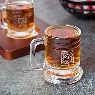 Personalized Birthday Zodiac Sign Shot Glass, Libbey Shot Glasses 1.25Oz with Handle| Tequila Shot, Funny Shot Glasses for Women | Birthday Gifts for Dad, Mom, Wife